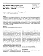 Invited Articles The American Academy of Social Work and Social Welfare: History and Grand Challenges