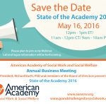 Save the Date- May 16, 2016- AASWSW  Business Meeting